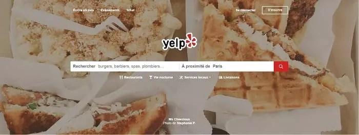 Important Site de gestion de la e-réputation: Yelp