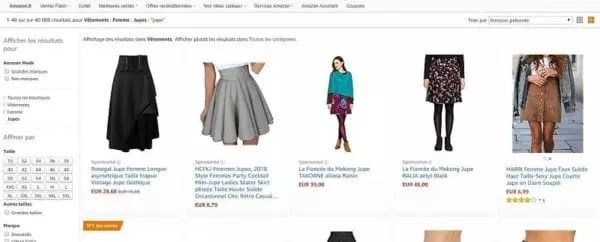 Un exemple des publicités d'Amazon