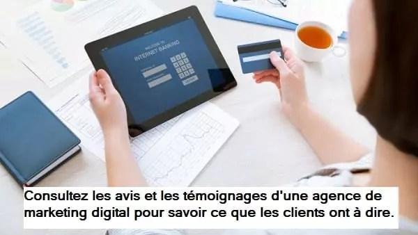 Lire les témoignages d'une agence de marketing digital