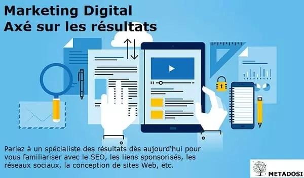 Sites internet des agences dans les avis de marketing digital