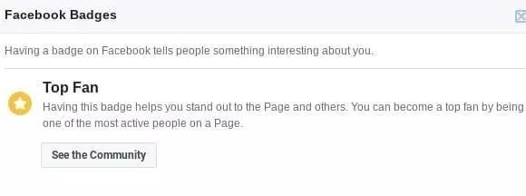Les utilisateurs les plus actifs sur une page d'entreprise reçoivent un badge de meilleur fan
