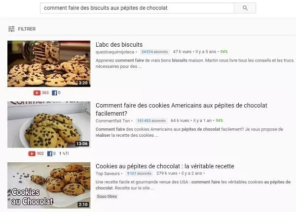 Recherche Youtube