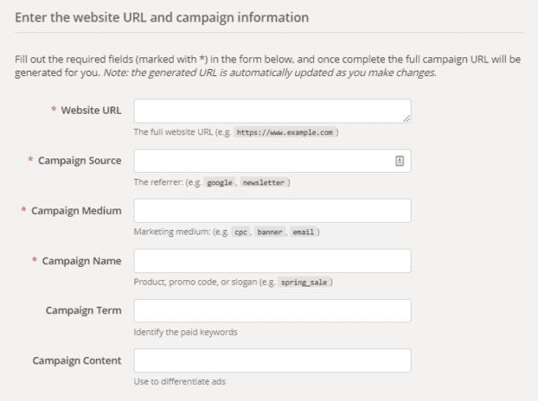 Constructeur d'URL personnalisé google