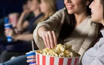 Pop corn dans une salle de Cinéma