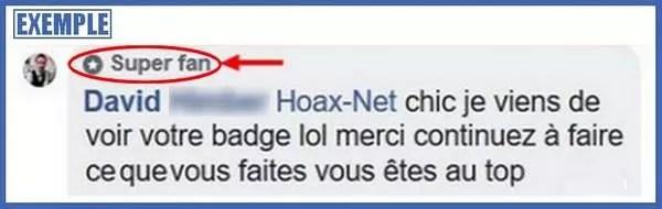 Un exemple de Earned Media avec un super Fan Facebook de Hoax-Net