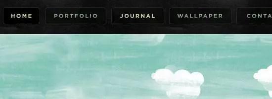 Capture d'écran du menu de navigation Anderbose.