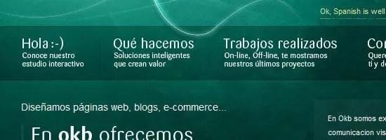 okb capture d'écran du menu de navigation.