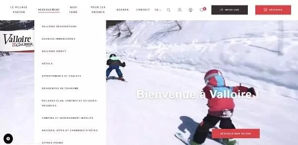 Ce menu déroulant souligne l'attention portée aux détails par le concepteur de site.