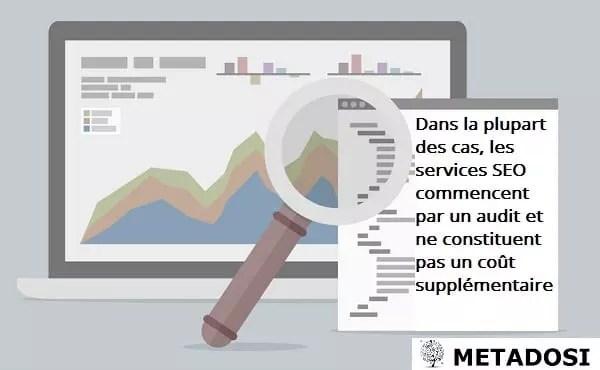 Une déclaration sur le fait que les audits SEO soient inclus ou non dans les services de référencement