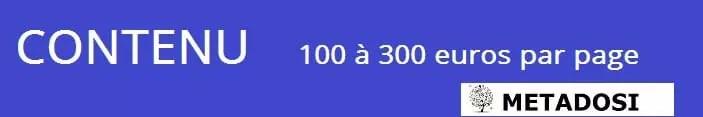 le contenu coûte 100 à 300 euros par page