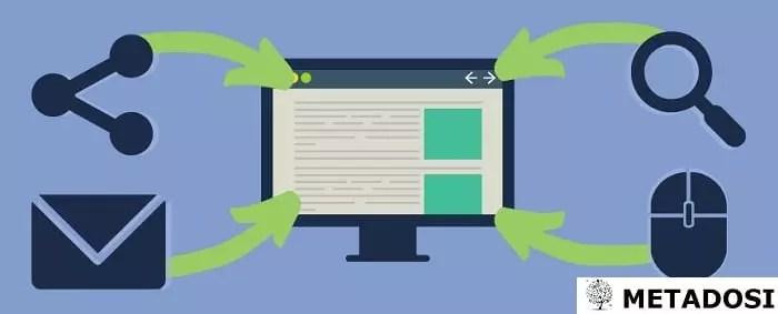 en générant du trafic vers le site web à partir de sources multiples, qu'il s'agisse de sites payants, de messagerie électronique, de recherche ou de réseaux sociaux