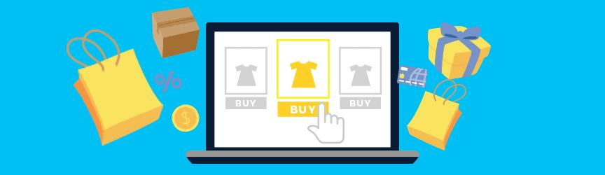 graphique d'un écran d'ordinateur faisant des achats en ligne