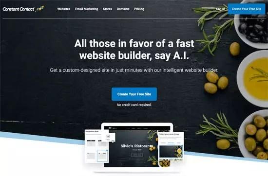 Le site Constant contact pour créer un site internet