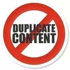 Le contenu dupliqué est mauvais pour le référencement naturel