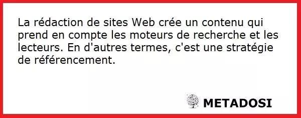 Définition de la rédaction de sites Web