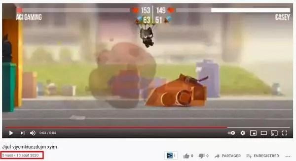 Une vidéo YouTube avec 5 vues en un an