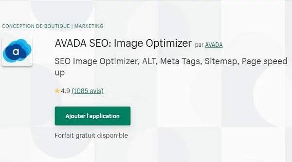 Application Shopify Avada SEO