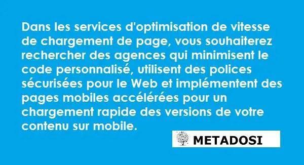 Recherchez des experts en référencement Shopify qui fournissent des services d'optimisation de vitesse de site axés sur un code personnalisé minimal et des polices sûres pour le Web.