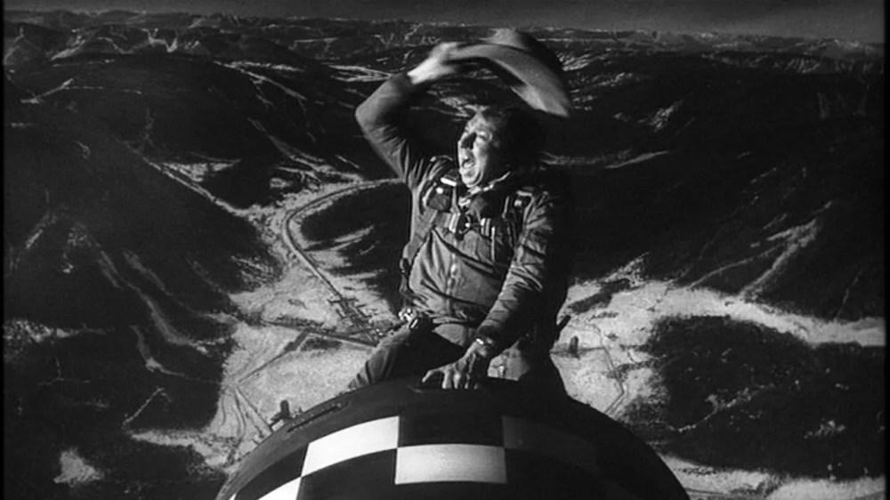 Slim Pickens Riding Bomb in Dr. Strangelove Movie