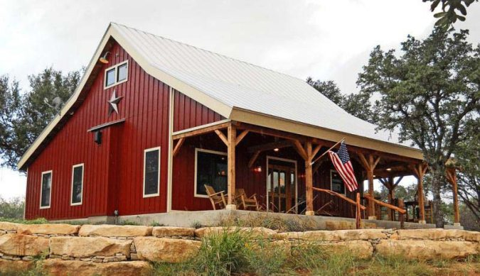 Country Barn Home Kit w  Open Porch  9 Pictures    Metal Building Homes Subscribe for Updates  Free House Plans   Best Contractor Deals