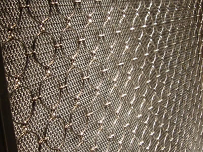 Decorative Ring Mesh Curtain Ss Amp Bronze