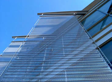 Conveyor Belt Mesh For Facade Cladding And Handrails