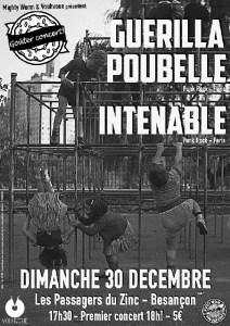 Goûter-concert : « Guerilla Poubelle + Intenable » @ Les Passager du Zinc
