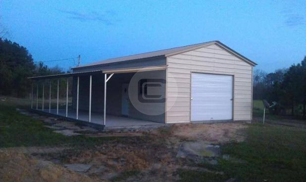 20x41 Workshop With Lean To Metal Barn Central