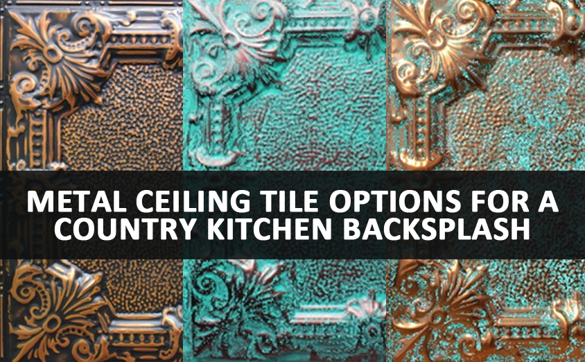 metal ceiling tile country kitchen