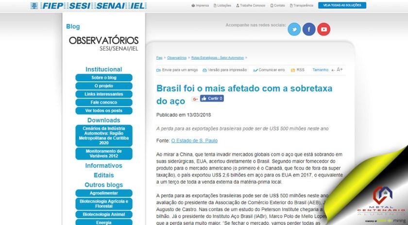 Brasil foi o mais afetado com a sobretaxa do aço #soubuzzer #perfisdealuminio #sobretaxadoaço (TOP 5)