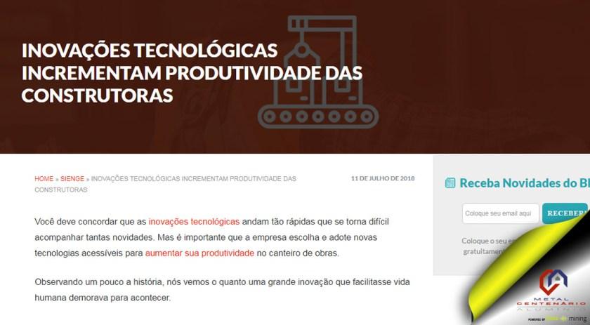 INOVAÇÕES TECNOLÓGICAS INCREMENTAM PRODUTIVIDADE DAS CONSTRUTORAS #indústria #perfisdealumínio #esquadriasdealuminio #inovaçõestecnológicasconstrutoras #soubuzzer (TOP 4)