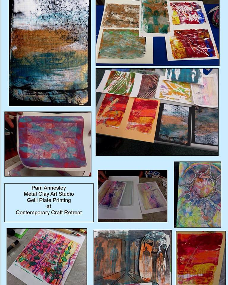 Gelli Plate Printing 2 - Comtemporary Craft Retreat 2015