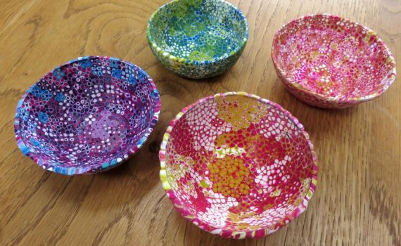 Student created Bowls in Extruder Workshop