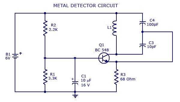 Metal Detector Circuitrhmetaldetectorsforgold: Metal Detector Schematic Diagram At Gmaili.net