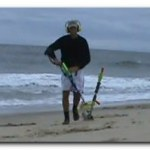 searching a beach with a metal detector Prices of metal detectors Secrets of beach search