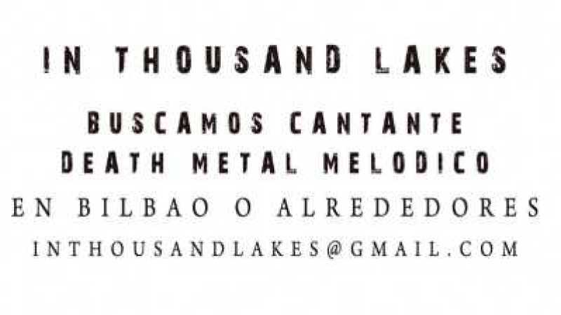 In Thousand Lakes buscando cantante tras su regreso