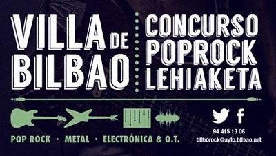 Bandas elegidas para la 26ª edición del Concurso Pop Rock Villa de Bilbao