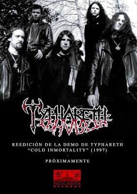 Typhareth reedición de su maqueta Cold Immortality