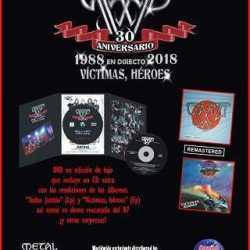 """Sparto DVD 30 Aniversario-En Directo """"Victimas, héroes"""" 1988-2018"""