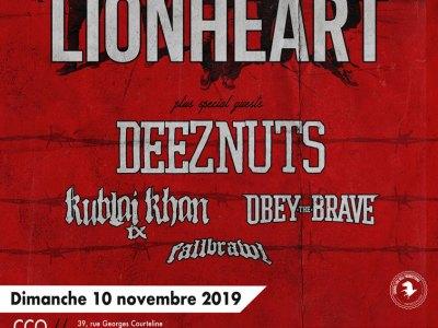 Affiche du concert de Lionheart à Lyon au CCO