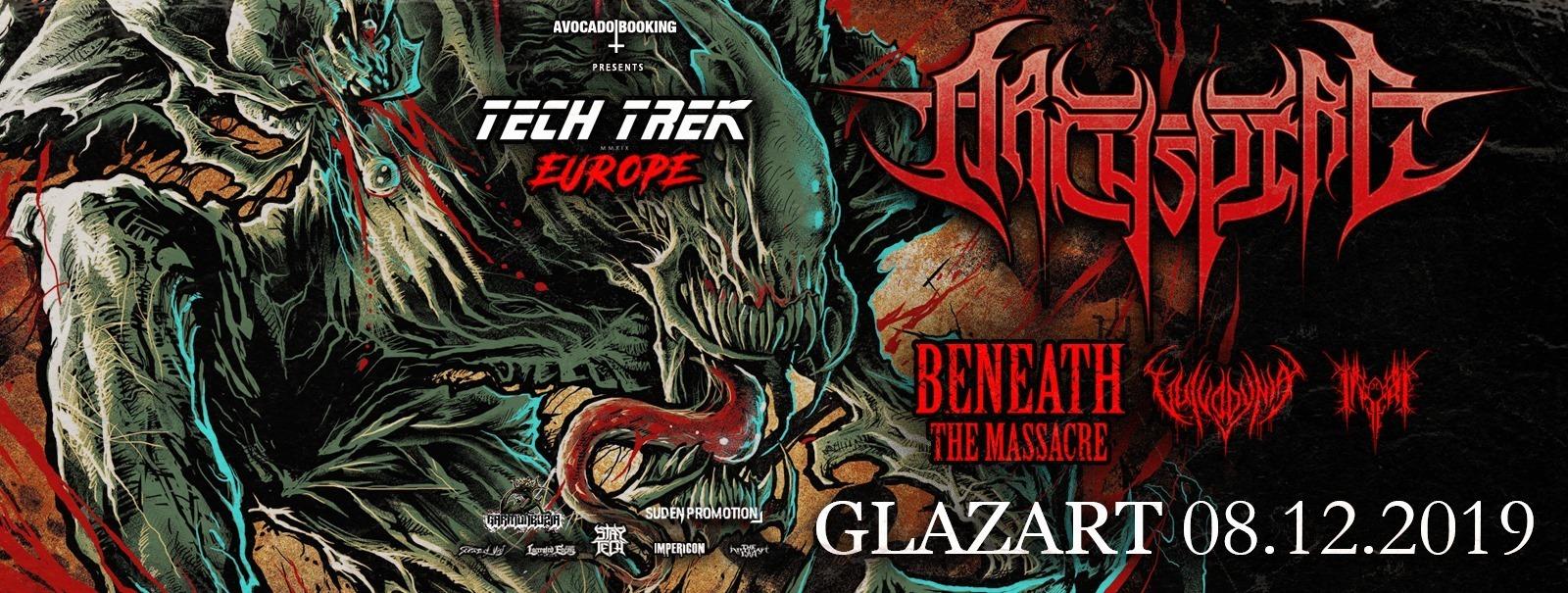 Concert d'Archspire, Beneath The Massacre, Vulvodynia, Inferi au Glazart à Paris