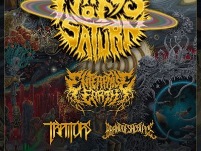 Concert de Rings of Saturn, entreprise earth, traitors, brand of sacrifice au gibus à paris