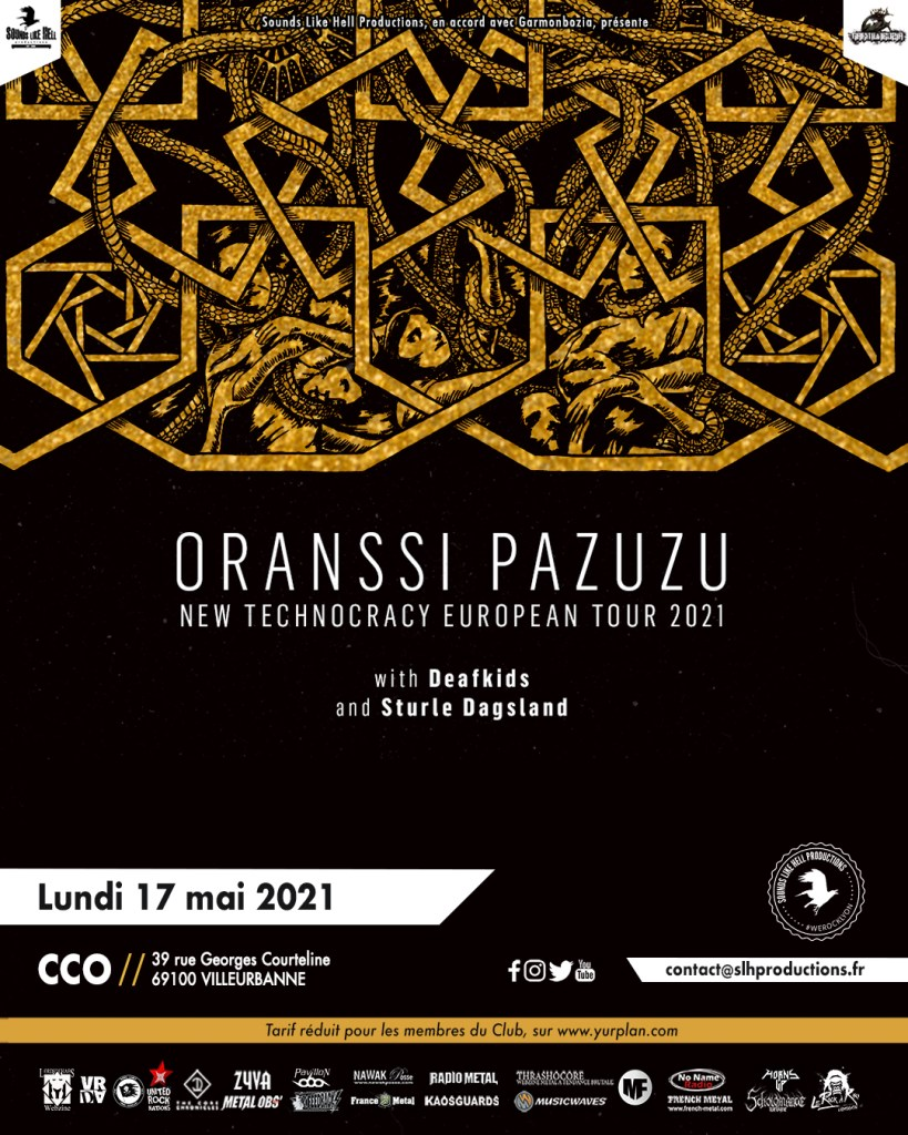 Affiche du concert de Oranssi Pazuzu au CCO