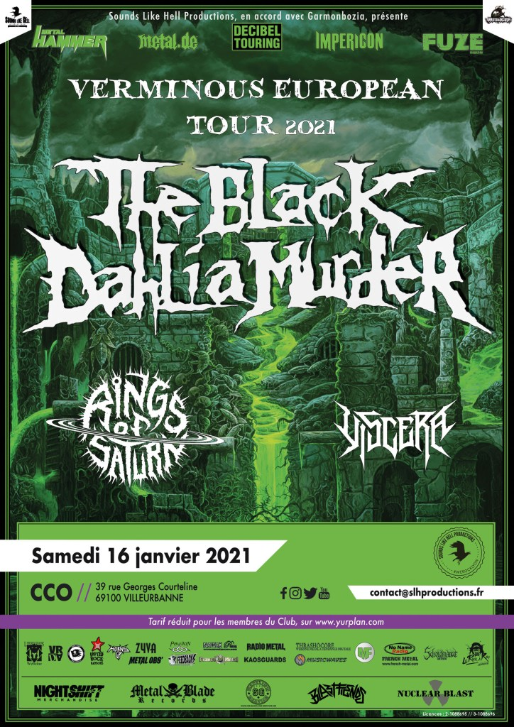 black dahlia murder - lyon 2021