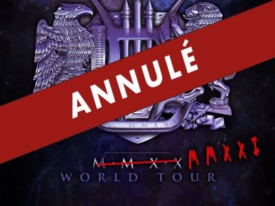 Affiche de la tournée annulée de 2021 du groupe Sons of Appolo
