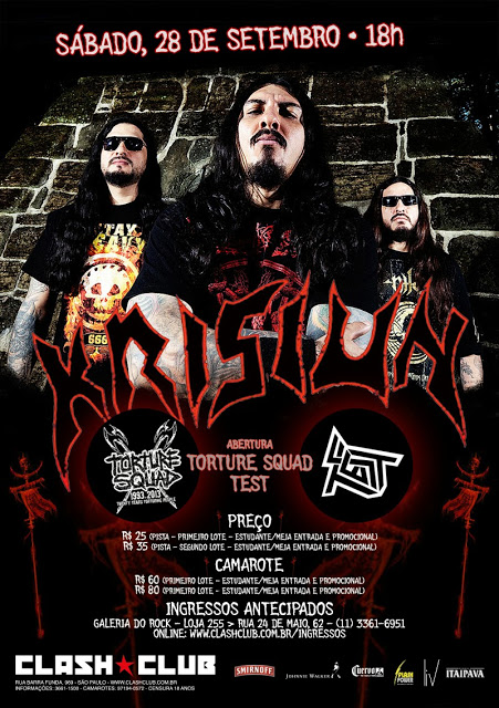 cartaz Krisiun Clash SP