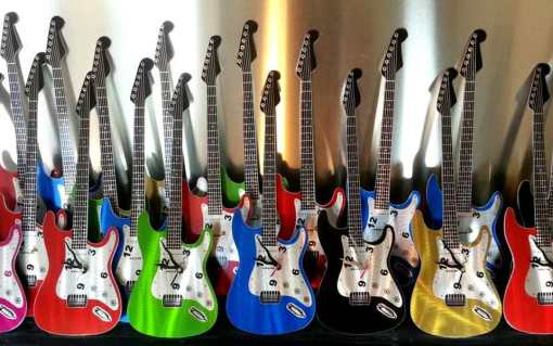 guitar metal wall clocks