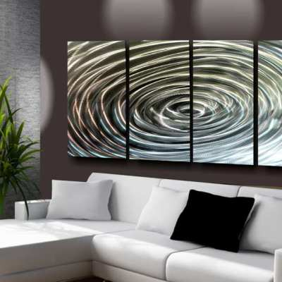 brushed metal wall art