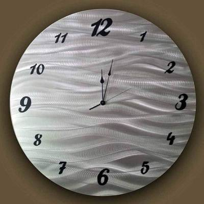 Metal Art Wall Clock Brushed Metal
