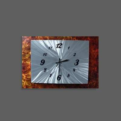 modern rust clock design